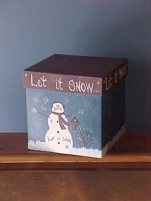 Handcrafted Snowman Box