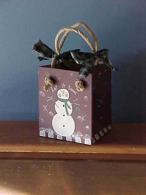 Handcrafted Snowman Bag