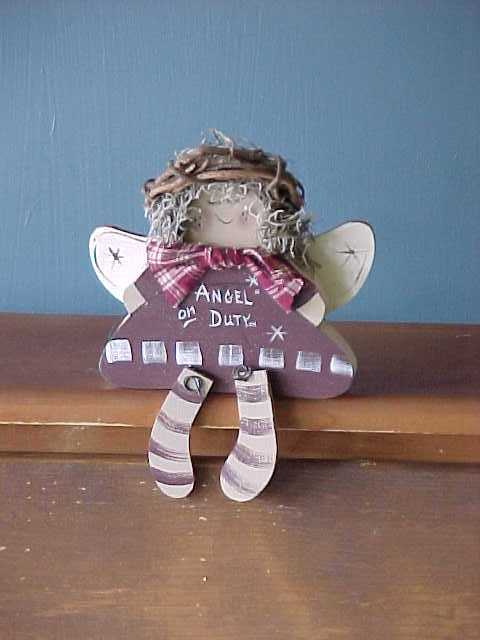 Gardening Angel, Handcrafted Wood