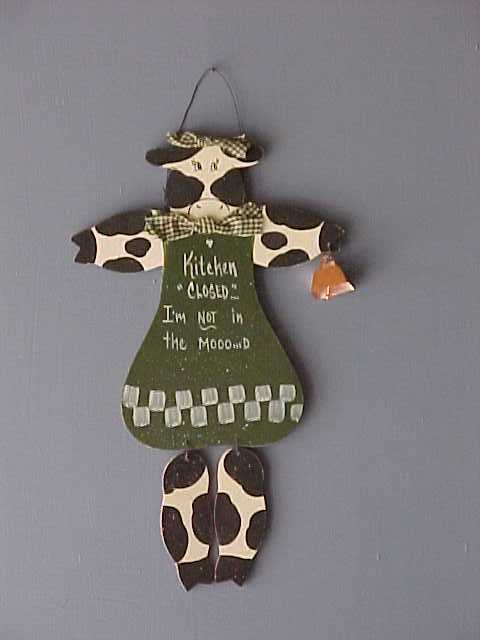 Handcrafted Wood Country Cows Home Decor