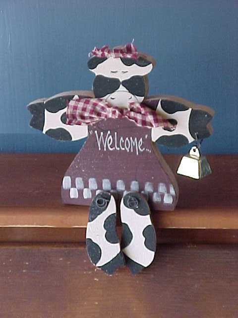 Handcrafted Country Cows, Home Decor