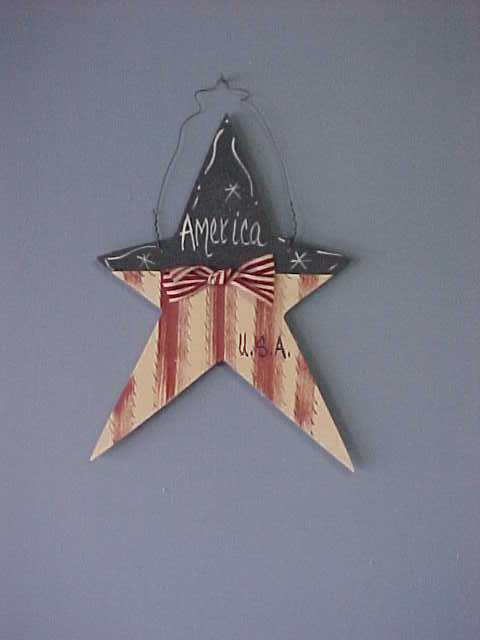 Americana Star, Handcrafted Wood