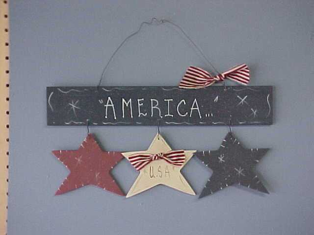 Americana Stars, Handcrafted Wood