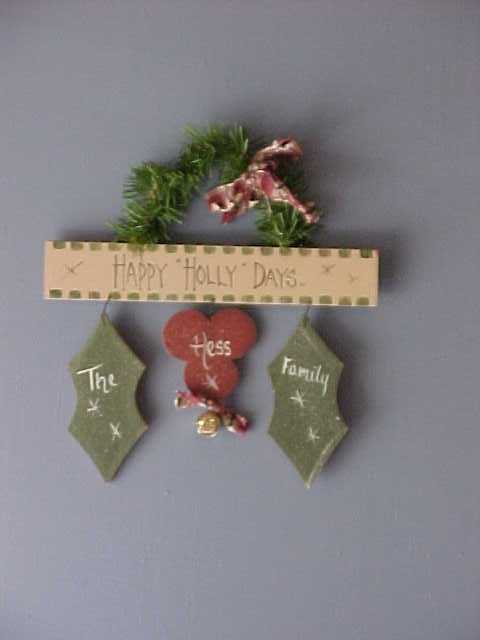 Handcrafted Christmas Holly Leaves And Berries